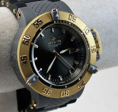NEW Invicta SubAqua Noma III Men's Watch, 10116, Goldtone on Black/Grey Poly