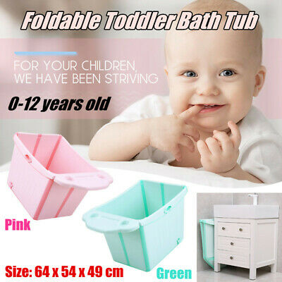 Folding Portable Bathtub Insulated Bath Tub Baby Toddlers Kids Bath Tub AU Stock