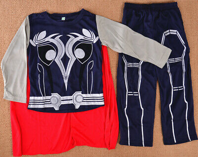 Thor Boys Kids 3pcs Costume Set Halloween Party Dress Up Outfit Cosplay Child