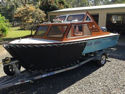Custom built 4.8m wooden motor cruiser with Yamaha 50hp 4 stroke motor