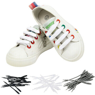 No Tie Rubber Shoe Laces Colored ShoeLaces for Trainers Snickers for Kids Adult