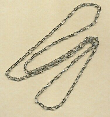 1 metre silverplated chain- ideal for chain bracelets  (Y8)
