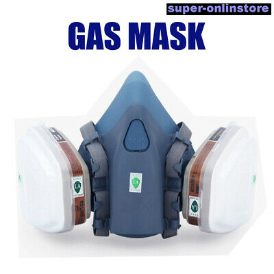 Gas Mask 3M 7502 Suit Half Face Respirator Painting Spraying Face Dust AU STOCK