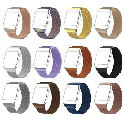 S/L Replacement Magnetic Loop Bracelet Steel Strap Wristband For Fitbit Ionic