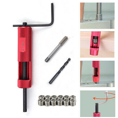 Thread Repair Tool Kit M10 x 1.0 mm Tap + Drill Bit + 12 Stainless Steel Inserts