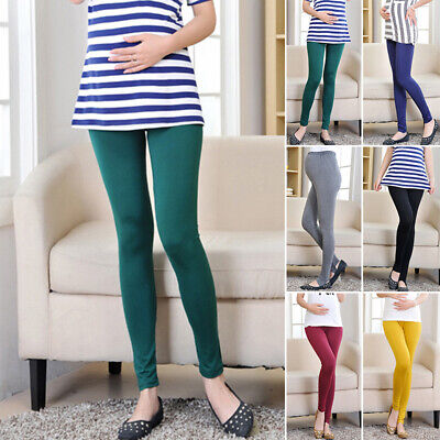 Maternity Women High Pregnant Pants Casual Abdominal Moms Trousers Waist Modal
