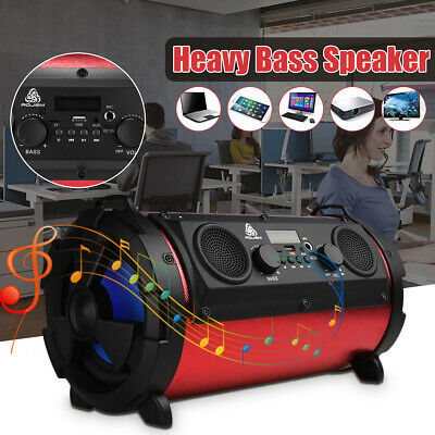 Wireless bluetooth Speaker HiFi Stereo LOUD Bass Subwoofer MIC TF FM