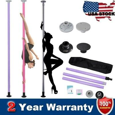 Solid Steel Portable Stainless Steel Dance Pole Spinning Static Dancing Fitness