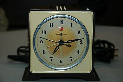 "Vintage Antique General Electric/ Telechron ""Acorn"" Model 7H78 Alarm Clock"