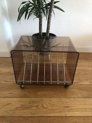 Mid Century Record Cabinet Stand Storage