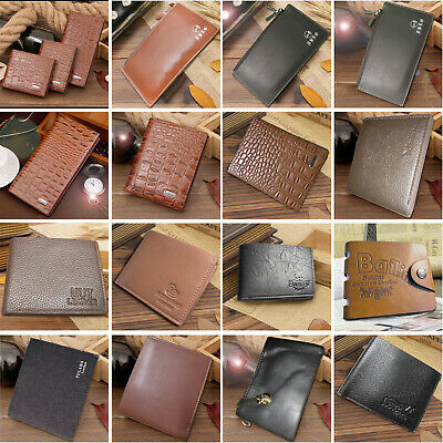 Mens Luxury style Genuine Soft Leather Wallet ID Credit card Holder Purse UK