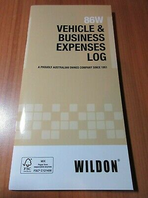 1 x Wildon Vehicle & Business Expense Diary Journal 86W in stock (A)