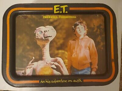 Vintage E.T. EXTRATERRESTRIAL 1982 Metal Folding TV Tray 17""