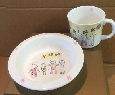 Repeat Repeat Kiddiwinks Porcelain Mug & Bowl/Childrens