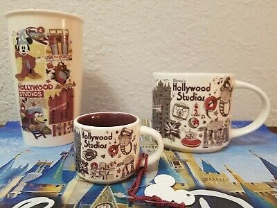 Set of 3 New Starbucks Hollywood Studios Been There Mugs & Ornament Disney Parks