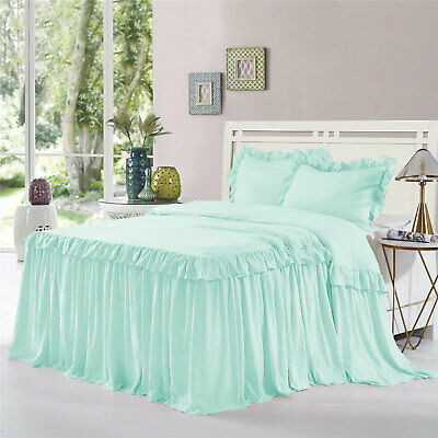 """1 Piece 800tc Egyptian Cotton Dust Ruffle Bed Spread 15/"""" drop all size /& color"""