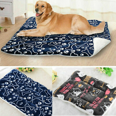 Soft Warm Fleece Lovely Design Paw Print Pet Blanket Dog Cat Mat Puppy Bed Sofa