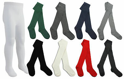 Multi Pack Cotton Rich Quality School Tights Girls Back To School Uniform Tights