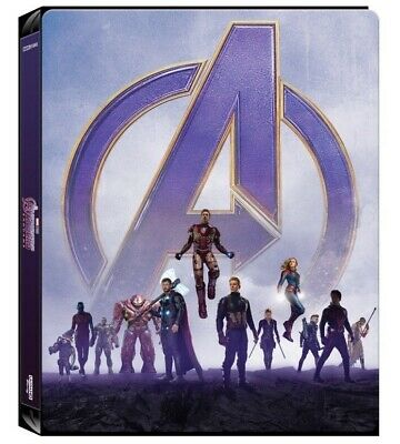 Avengers Endgame - 4K UHD + Blu-ray, UK Exclusive STEELBOOK, Iron Man, Pre-order