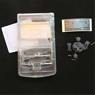 Blanco cristal Shell Housing completo para Nintendo Game boy Color GBC OEMKY XM