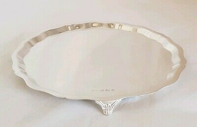 Vintage sterling silver salver / waiter / tray. Sheffield 1960.By Viner's Ltd