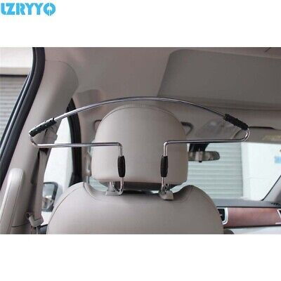Chrome Car Headrest Suit Jacket Coat Hanger, Universal Fittings & Instructions