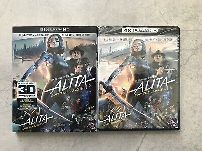 Alita Battle Angel (3D Blu-ray + 4K Ultra HD + Blu-ray+ Digital, Bilingual)