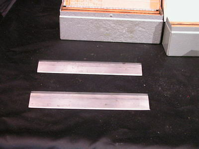 Lot of 2 Lipshaw  Microtome Knife Blade 185mm L x 31  mm H Silver Box