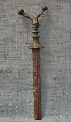 Ancient Bronze Sword Dagger With Iron Blade Western Asiatic 10th-7th Century B.C