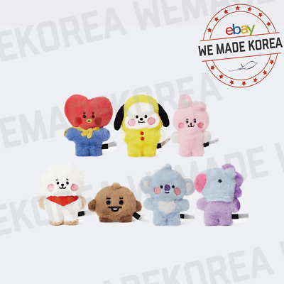 BT21 Character Baby Flat Fur Standing Doll 7types Official K-POP Authentic Goods