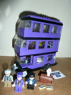 Lego Harry Potter 4866 Knight Bus Complete 3 Figures Instructions New Stickers
