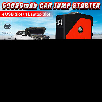 69800mAh Car Jump Starter Power Bank Booster Converter Petrol/Diesel Charger