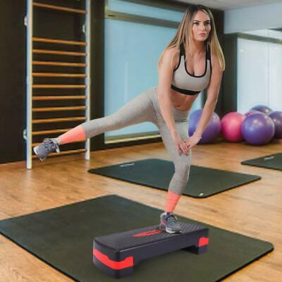 """27'' Fitness Aerobic Step Adjust 4"""" - 6"""" Exercise Stepper with Risers Home Gym"""