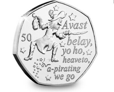 Peter Pan 2019 Isle of Man collection - Captain Hook 50p