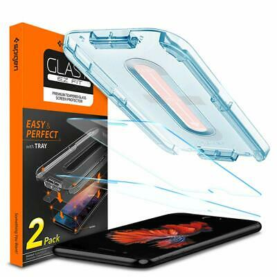 Spigen iPhone 8 Plus Screen Protector Tempered Glass w/ Installation Kit 2 Pack