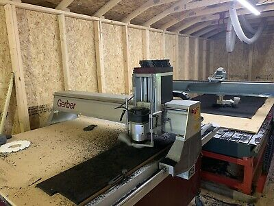 Gerber 404 Sabre CNC Router Retrofitted With Mach 3 And Gecko Drivers.