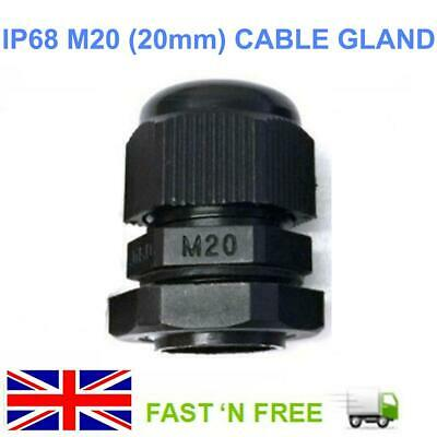 20 mm Black M20 Waterproof IP68 Nylon Cable Stuffing Gland Locknut for Junction