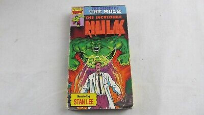 The incredible Hulk VHS 1992 Narrated by Stan Lee Marvel video Vintage