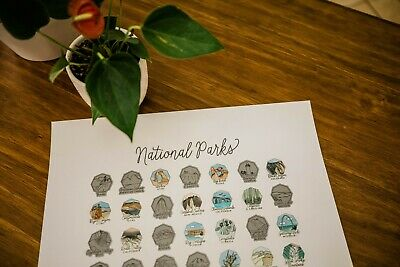Scratch Your Travels® US National Parks Logo Poster (SILVER)
