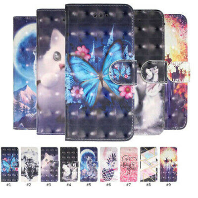 Fashion Painting Flip Card Shockproof Magnetic Leather Phone Case For Huawei Lot
