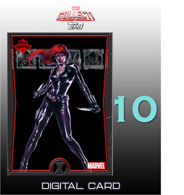 2019 TOPPS SHOWCASE BLACK WIDOW #10 Topps Marvel Collect Digital Card
