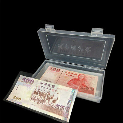 100Pcs Paper Money Album Currency Banknote Case Storage Collection WithBoxGift3C