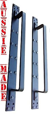 2x Large Wrought Iron Front Entry Door Large Pull Handle industrial
