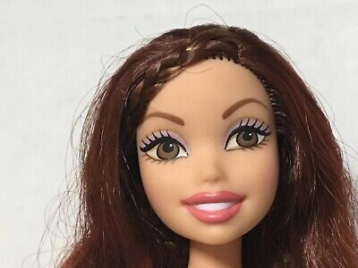 Barbie My Scene Getting Ready Chelsea Doll Smiling Mouth Auburn Red Hair