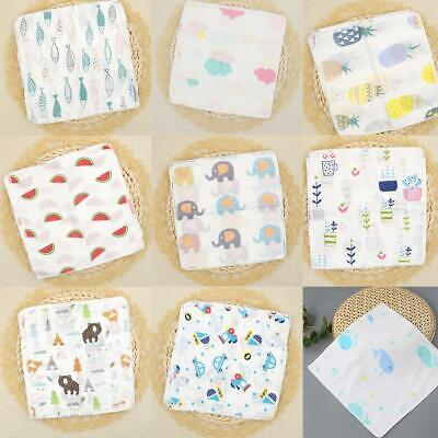 5pcs Baby Newborn Muslin Square 100% Cotton Bath Wash Handkerchief Set best