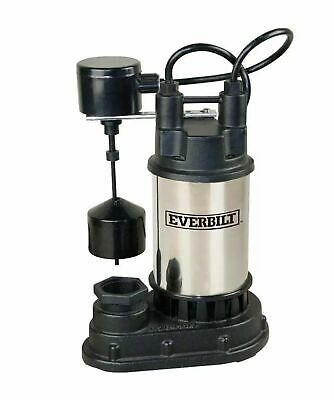 Everbilt 1/2 HP Stainless Steel Submersible Sump Pump New 1000 026 682