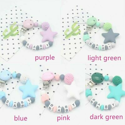 Dummy Clips Baby Boy Girl Teeth Chain Holder Kit Pacifier Teething Strap Beads