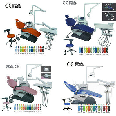 4 Models Computer Controlled Dental Unit Chair Hard Leather With Doctor Stool UK