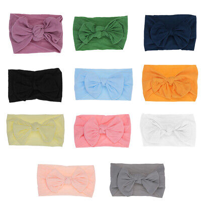 Newborn Baby Elastic Headband HairBand Girl Turban BowKnot Beanie Headwear