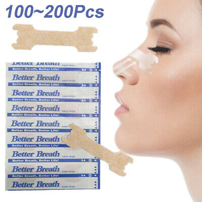 100/200 Better Breath Tan Nasal Strips Small/Medium Or Large UK Free Shipping